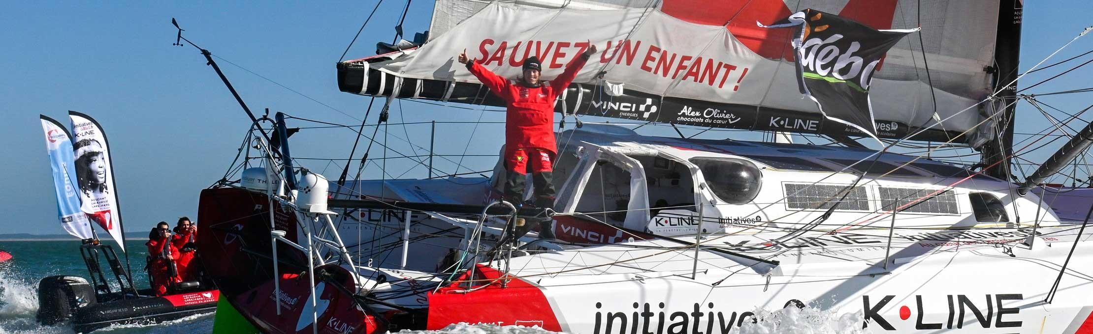 Alex Olivier partenaire du bateau Initiatives coeur